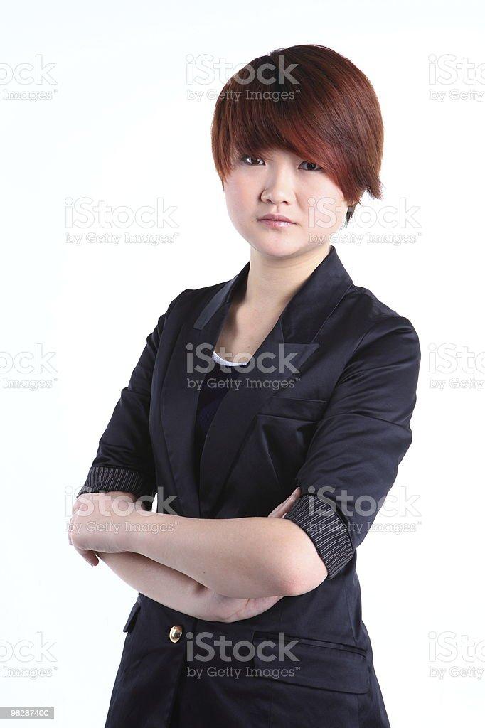 Donna d'affari in piedi foto stock royalty-free