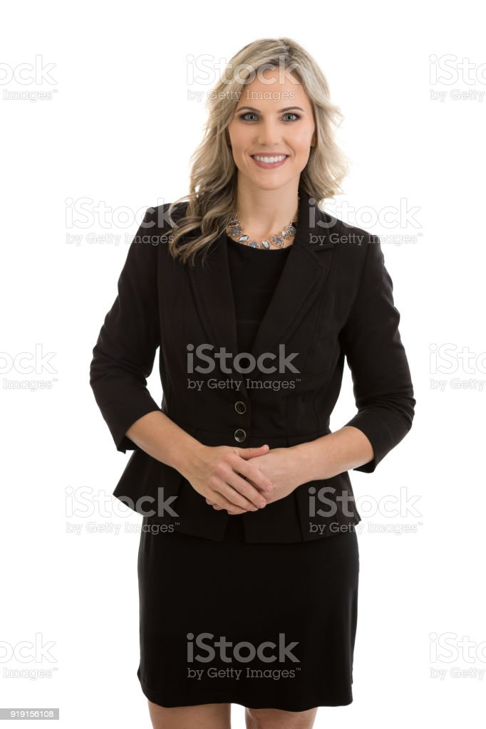 Businesswoman Standing Portrait stock photo