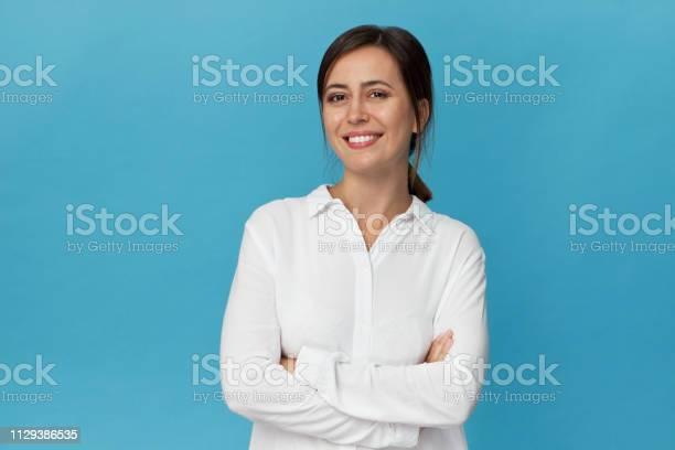 Businesswoman studio portrait confidence woman in elegant white shirt picture id1129386535?b=1&k=6&m=1129386535&s=612x612&h=tbhhax60ds9wgixjbkmjb7j5hbbeoh zhauyp k ho0=