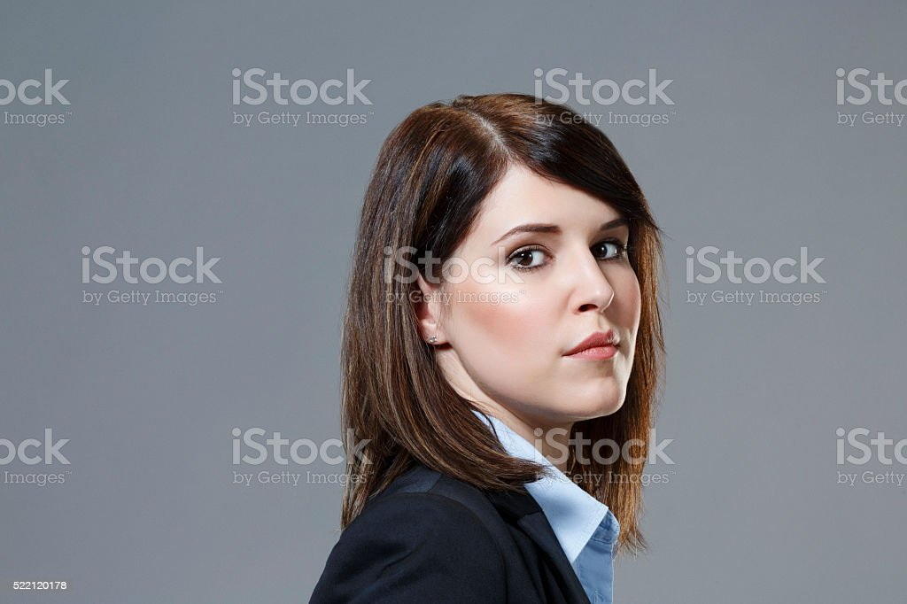 Businesswoman  Studio portrait of a beautiful  young woman Natural beauty stock photo