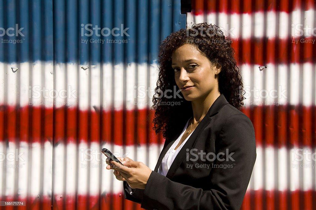 Businesswoman Texting royalty-free stock photo