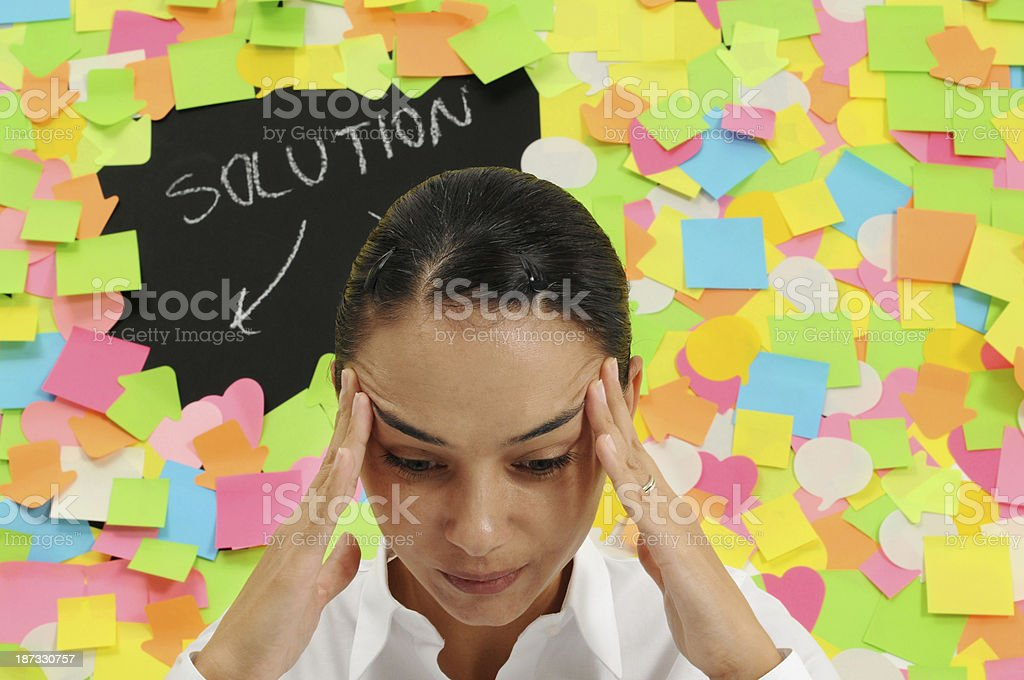 Businesswoman Thinking Solution royalty-free stock photo
