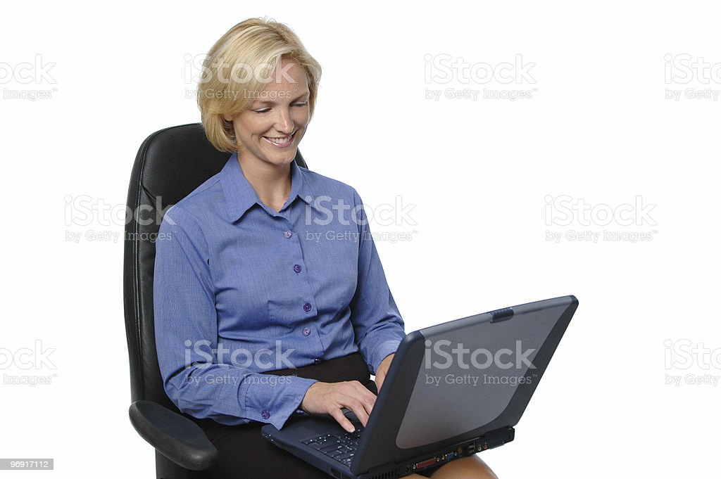 Businesswoman typing at the computer royalty-free stock photo