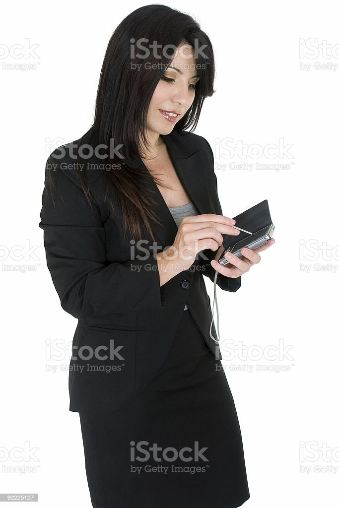 Businesswoman using a pda royalty-free stock photo
