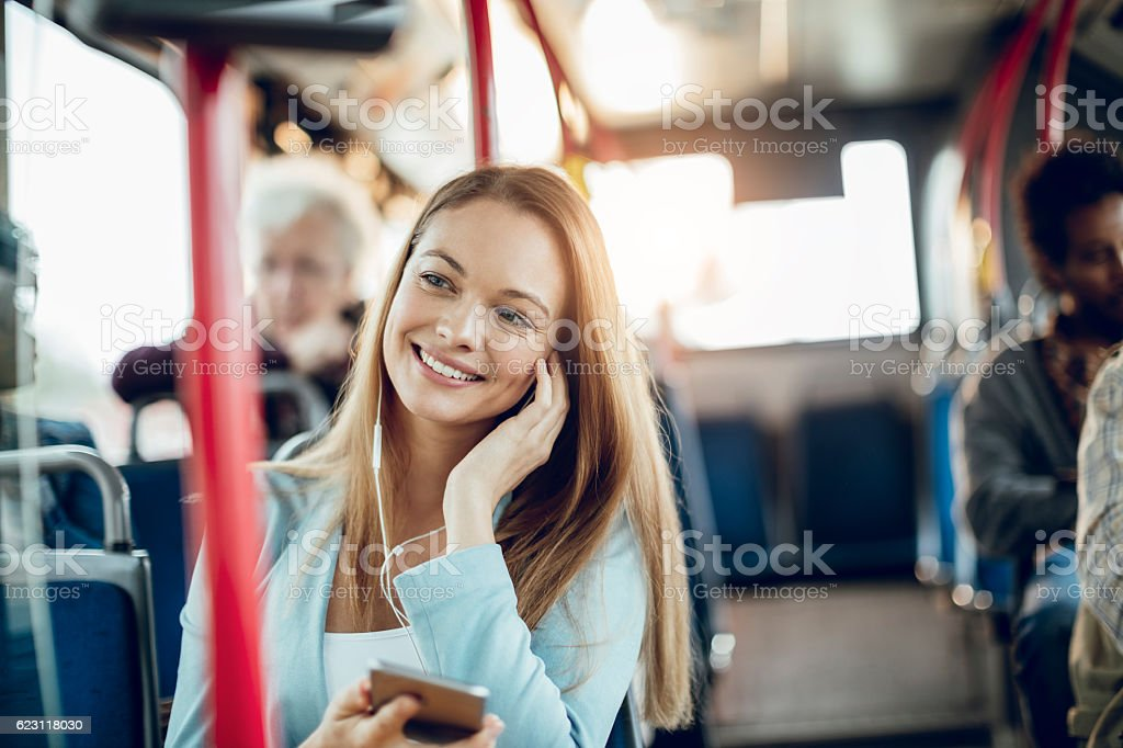 Businesswoman using a phone stock photo