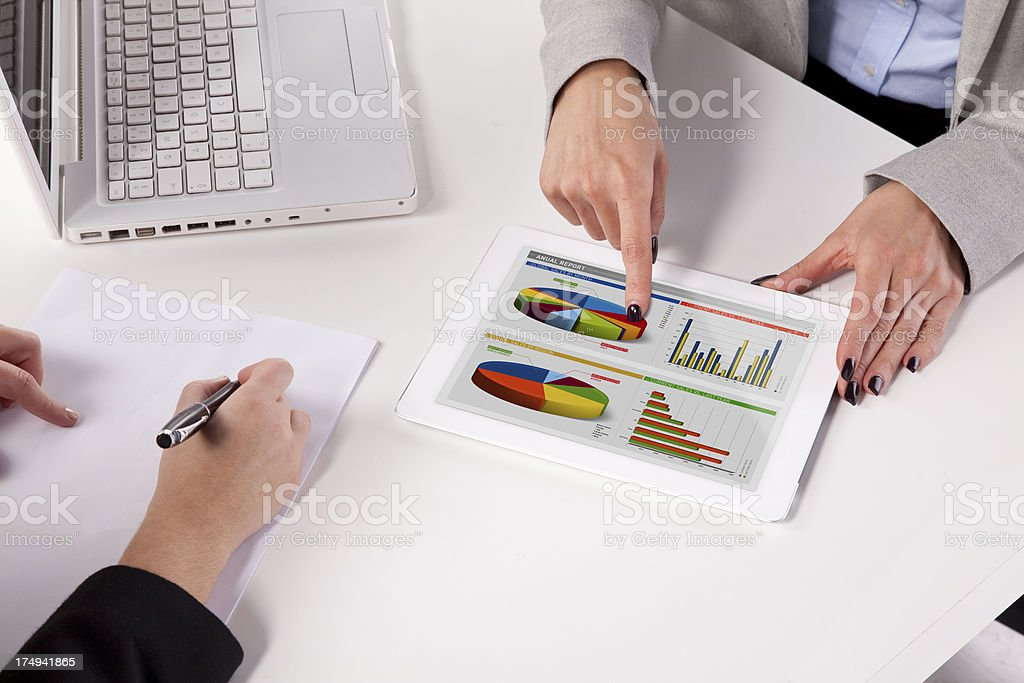 Businesswoman using digital tablet in the meeting. royalty-free stock photo