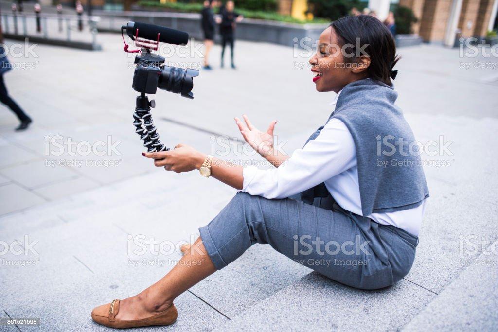 Geschäftsfrau Vlogs in London – Foto