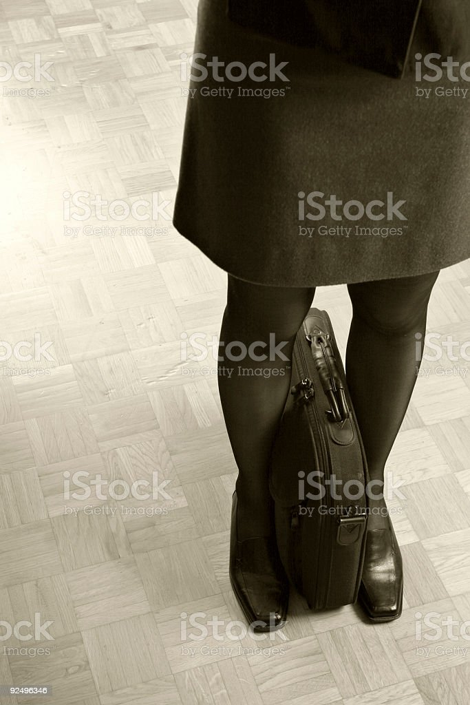 Businesswoman waiting royalty-free stock photo