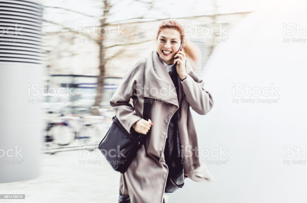Businesswoman Commuting to Work
