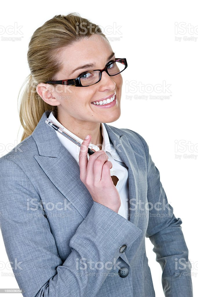 Businesswoman wearing a suit royalty-free stock photo