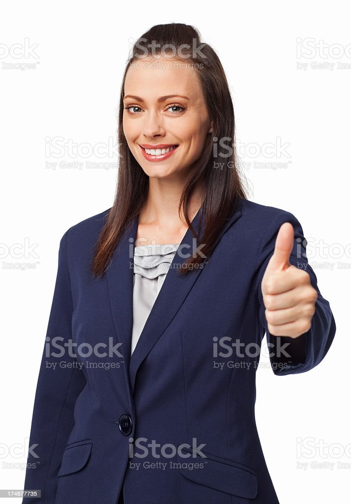 Businesswoman Wishing Good Luck - Isolated royalty-free stock photo