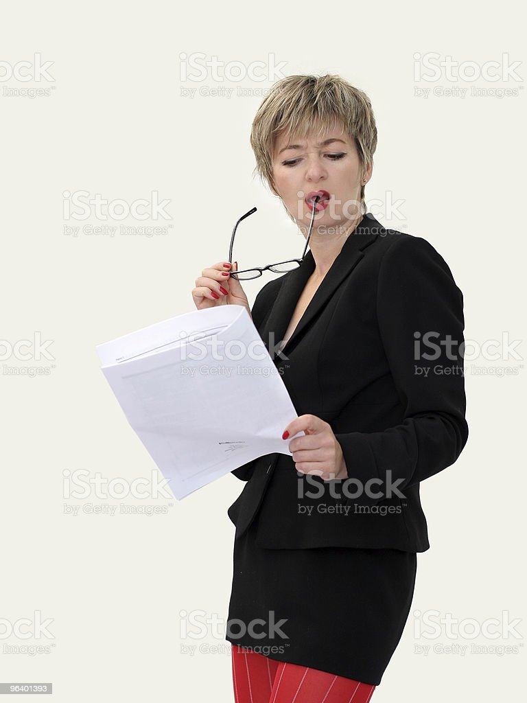 Businesswoman with a paper - Royalty-free Adult Stock Photo