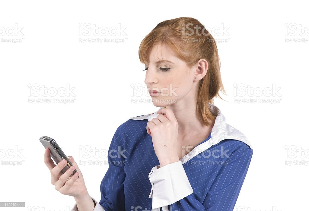 Businesswoman with Blackberry royalty-free stock photo