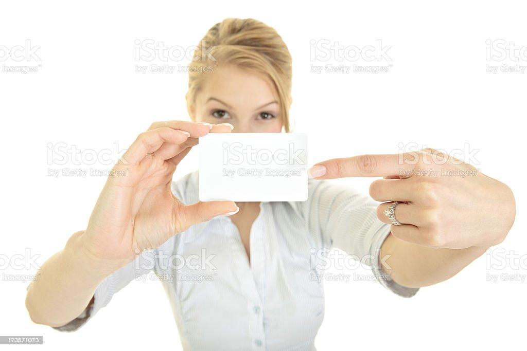 Femme d'affaires avec carte isolé sur blanc - Photo