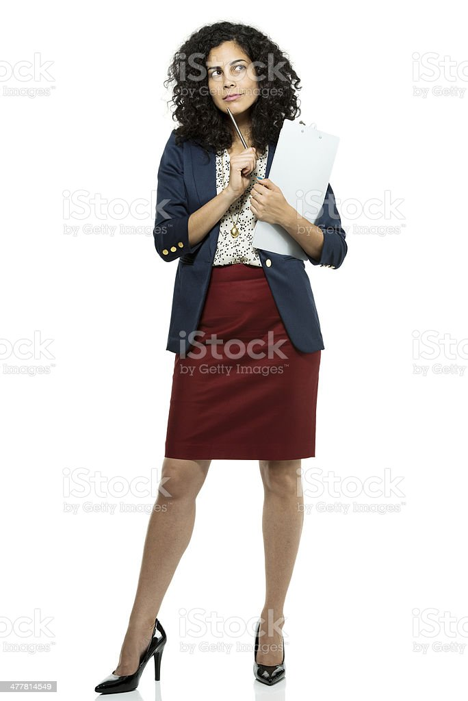Businesswoman with clipboard royalty-free stock photo