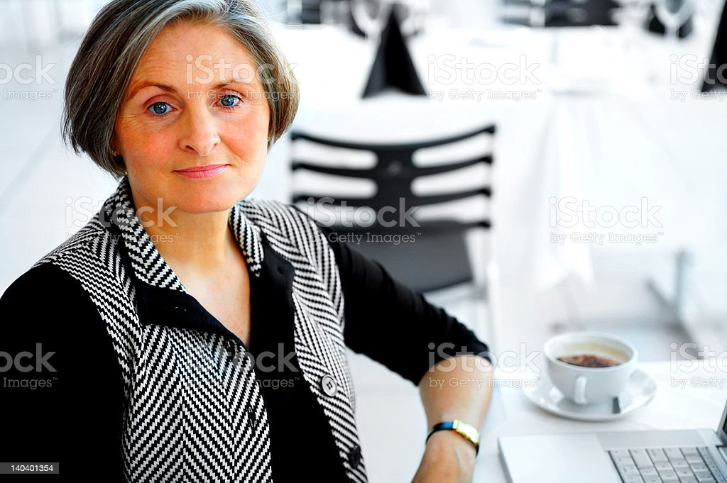 Businesswoman with coffee royalty-free stock photo