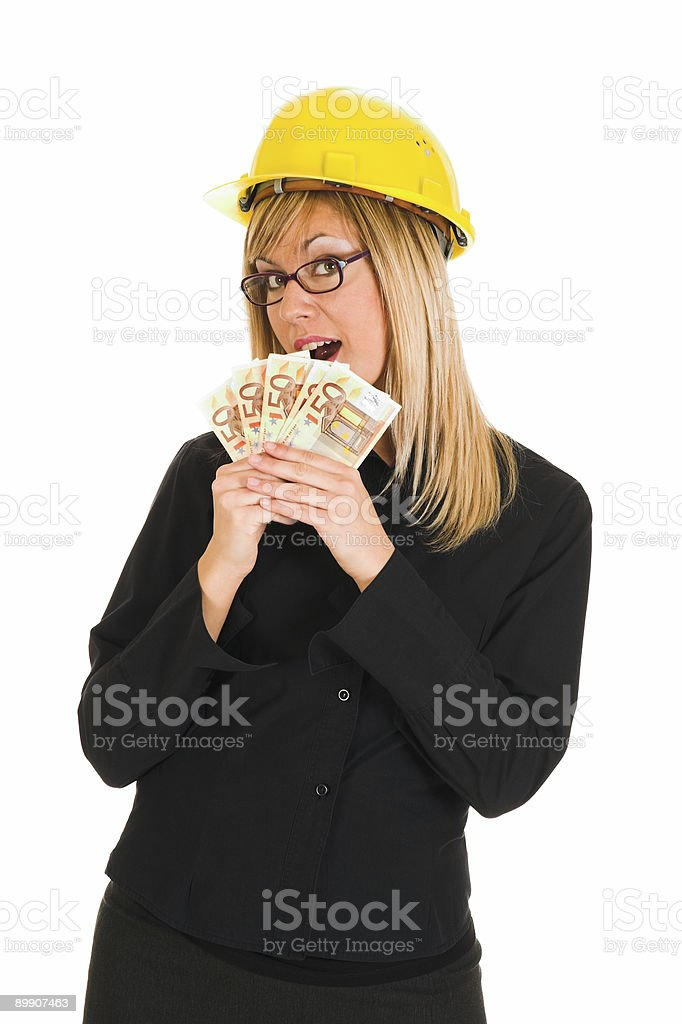 businesswoman with earnings royalty-free stock photo