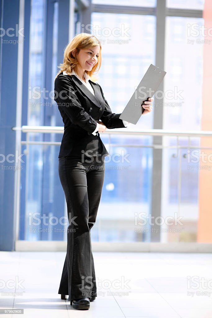 Businesswoman with folder. royalty-free stock photo