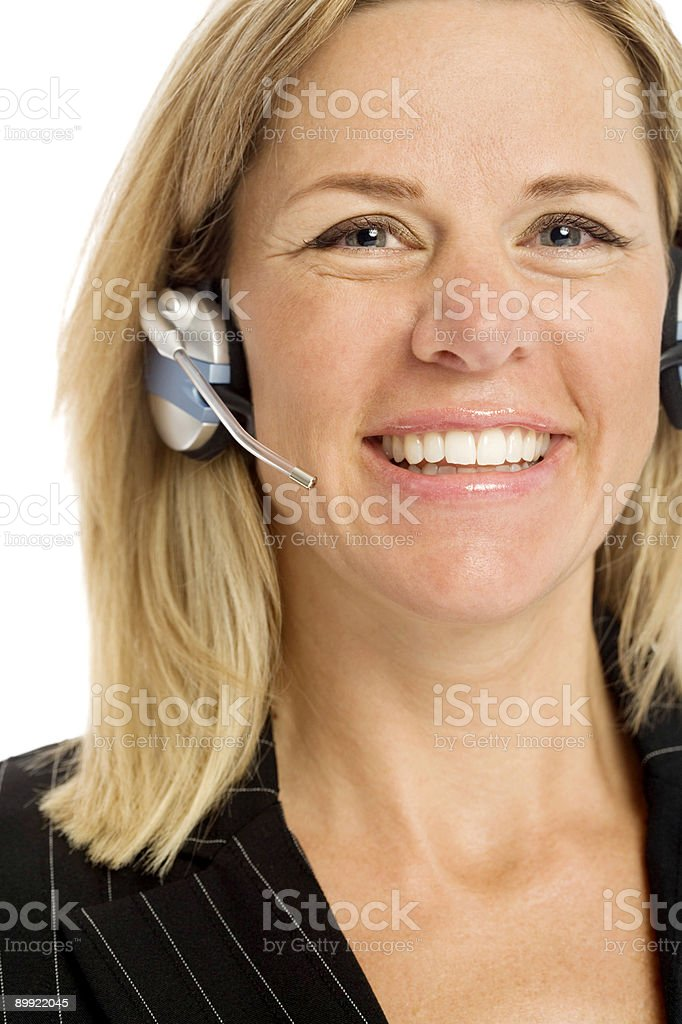 Businesswoman with headset royalty-free stock photo
