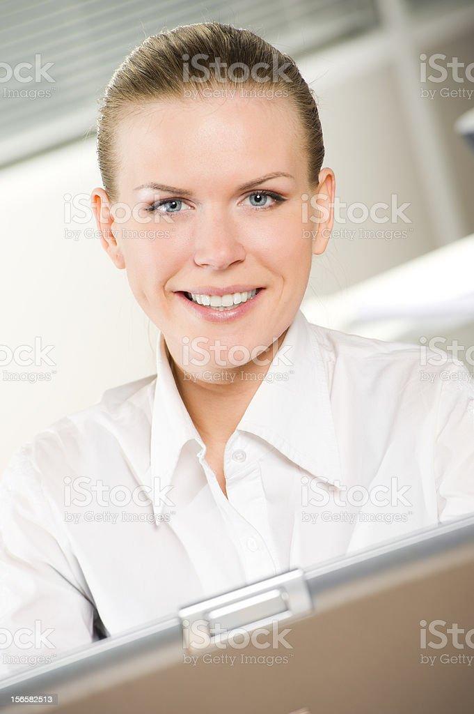 Geschäftsfrau mit laptop – Foto