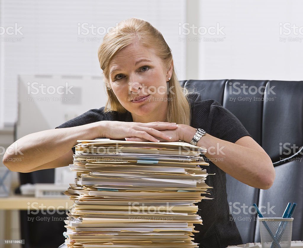 Businesswoman with Paperwork royalty-free stock photo