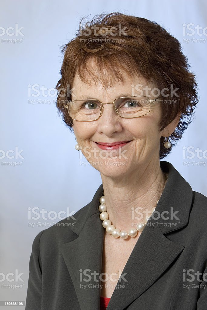 Businesswoman with pearls royalty-free stock photo