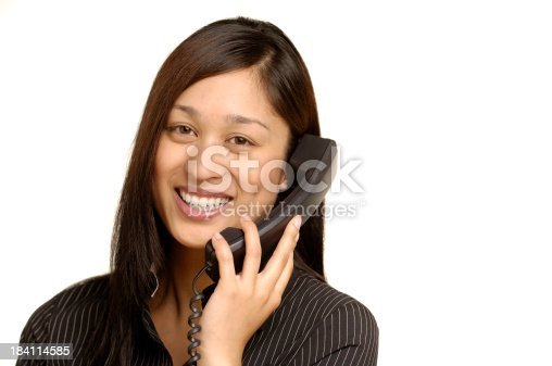 smiling woman on phoneClick on an