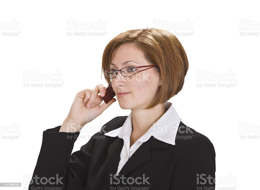 Businesswoman with phone royalty-free stock photo
