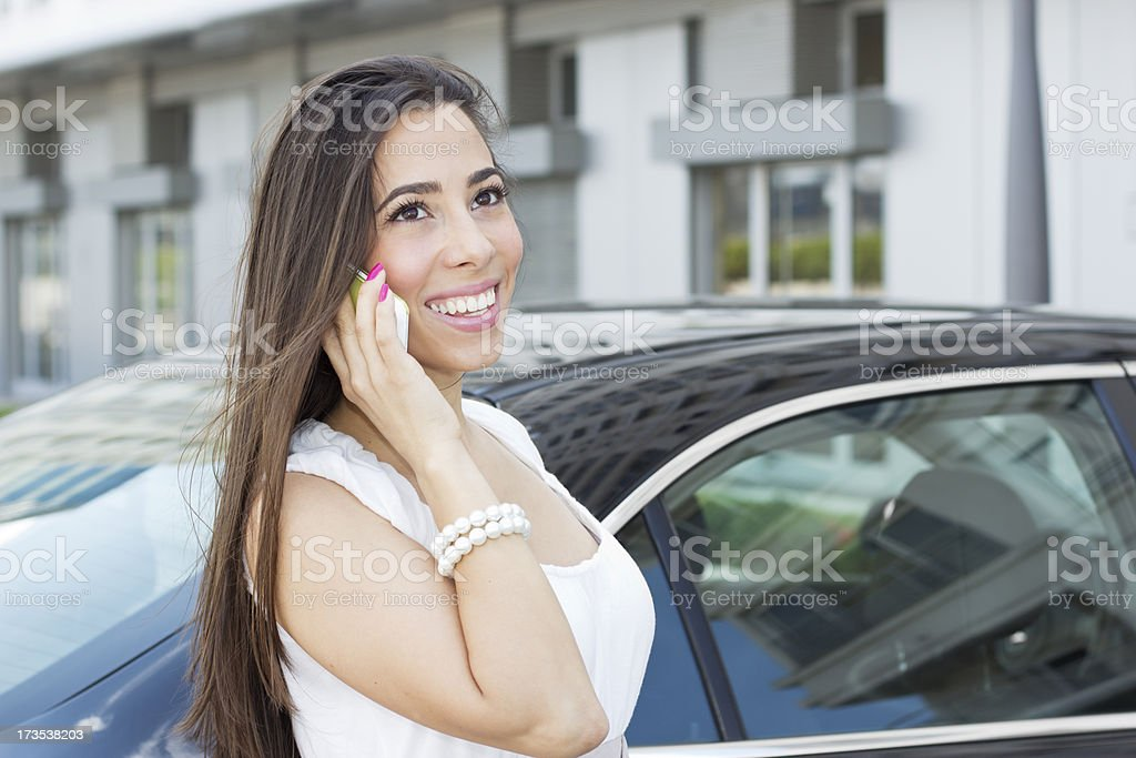 Businesswoman with Smart phone royalty-free stock photo