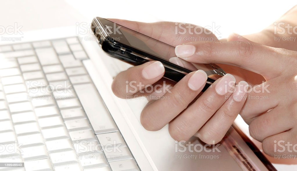 Businesswoman with smartphone royalty-free stock photo