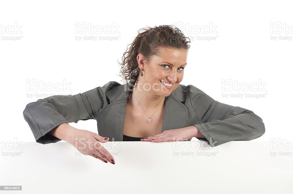 Businesswoman with space for text royalty-free stock photo