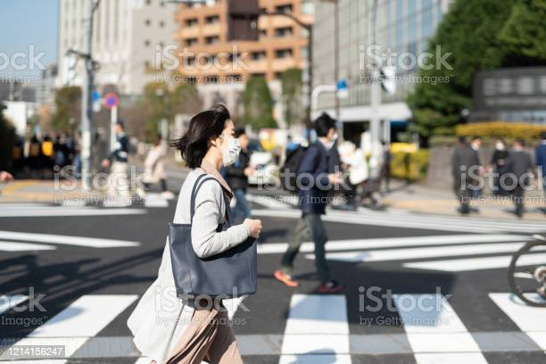 Businesswoman with surgical mask walking in city picture id1214156247?b=1&k=6&m=1214156247&s=612x612&h=b7ma hbxp6sshycj3waaub7w3jner1xl1hzwlliwris=