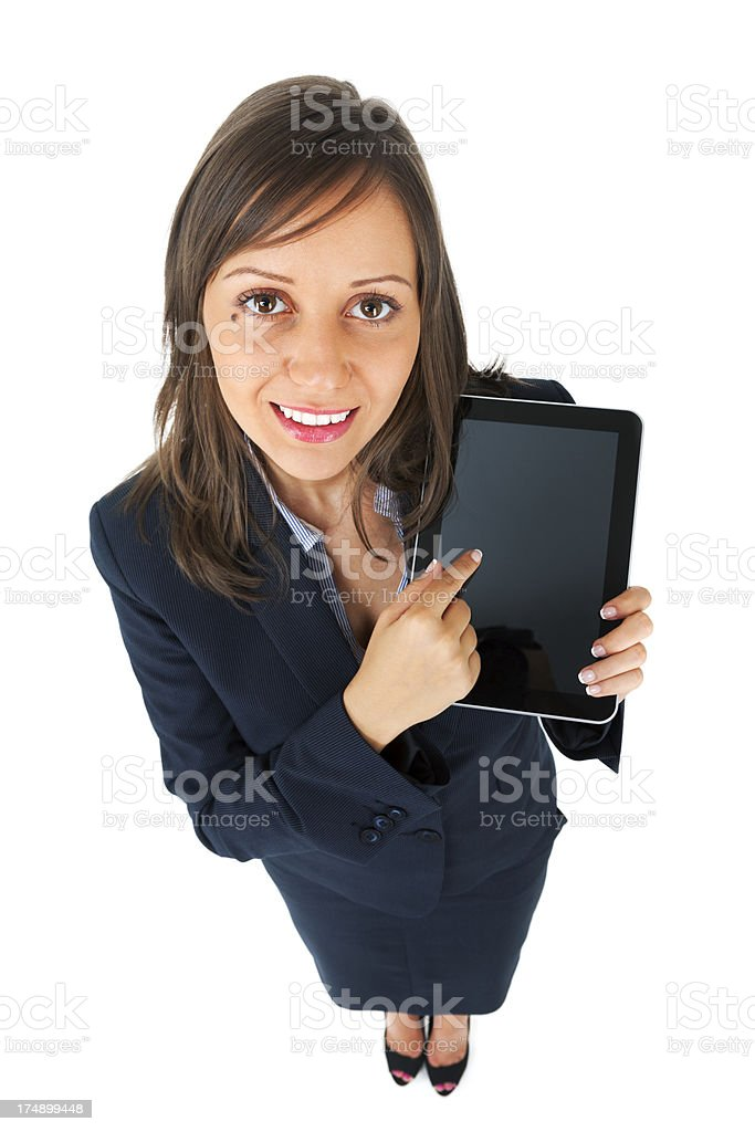 Businesswoman with tablet royalty-free stock photo