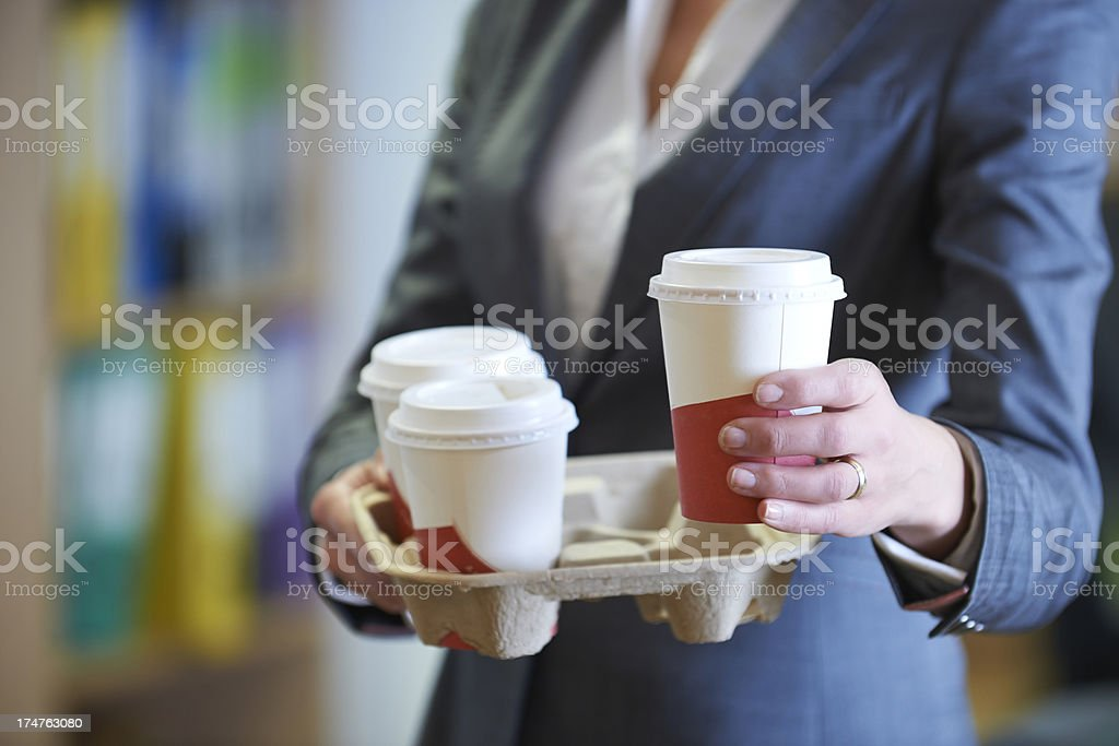 Businesswoman With Takeaway Coffee royalty-free stock photo
