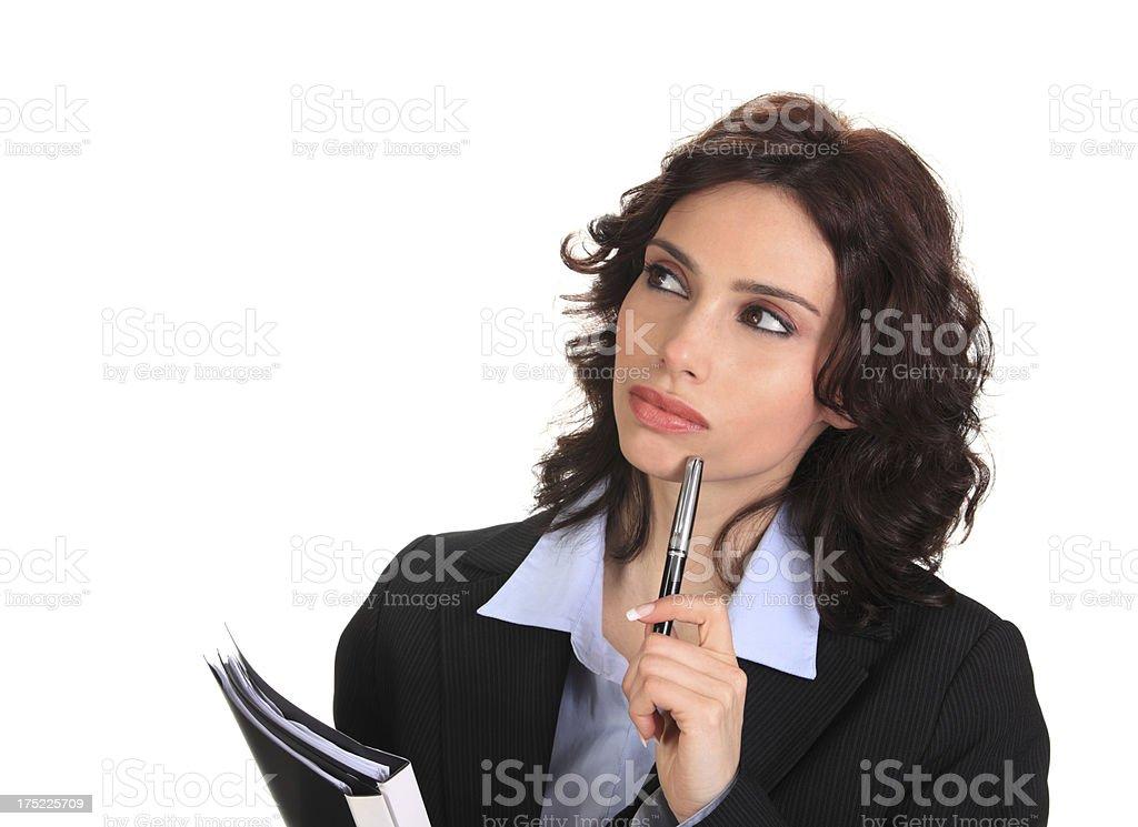 Businesswoman Wondering royalty-free stock photo