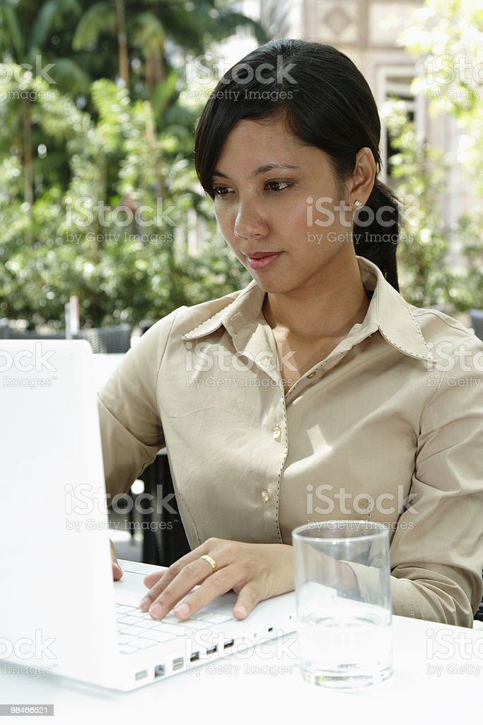 Businesswoman working royalty-free stock photo