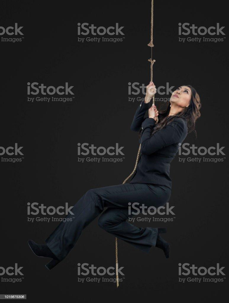 Geschäftsfrauen am Ende ihr Seil – Foto