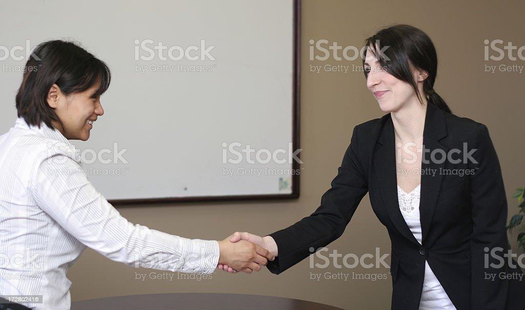 Businesswomen Handshake royalty-free stock photo
