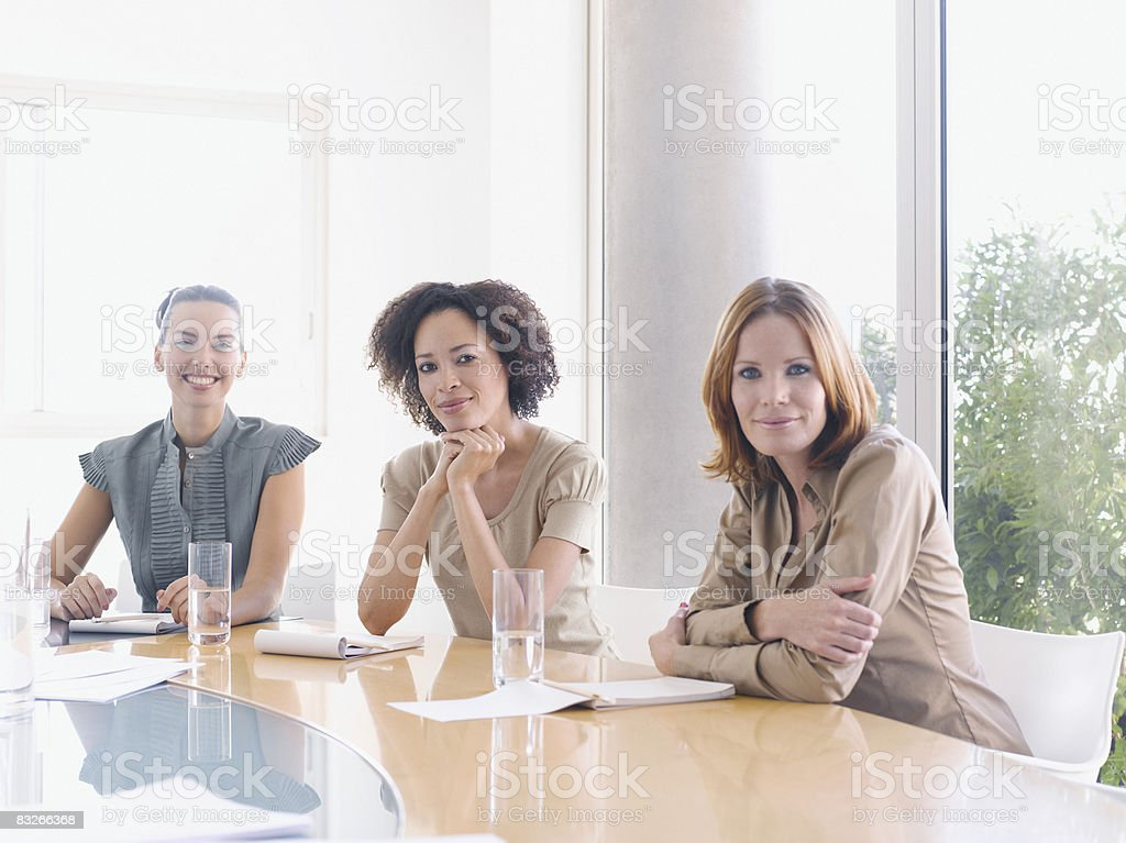 Businesswomen in conference room royalty-free stock photo
