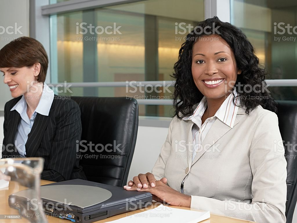 Businesswomen in meeting royalty-free stock photo