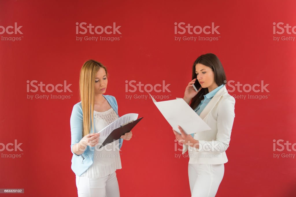 Businesswomen in office working together, new business royalty-free stock photo