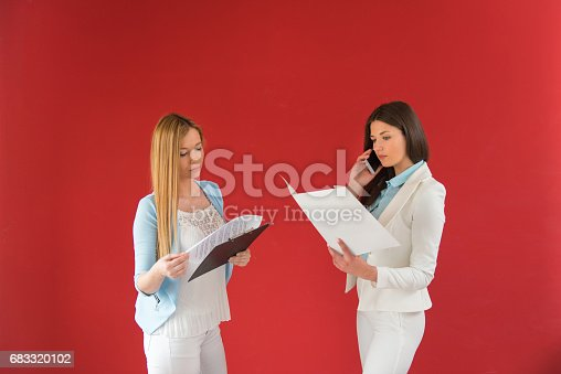 995734014istockphoto Businesswomen in office working together, new business 683320102