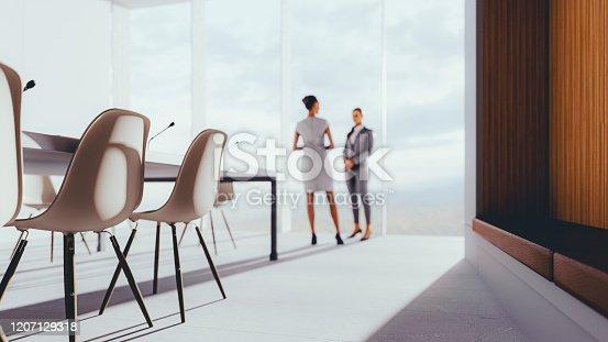 647200468 istock photo Businesswomen in the modern board room 1207129318