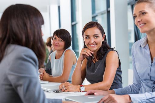 Businesswomen Meeting Stock Photo - Download Image Now