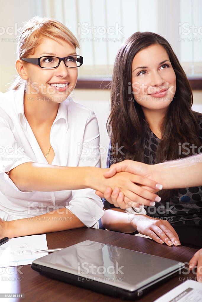 Businesswomen Shaking Hands royalty-free stock photo