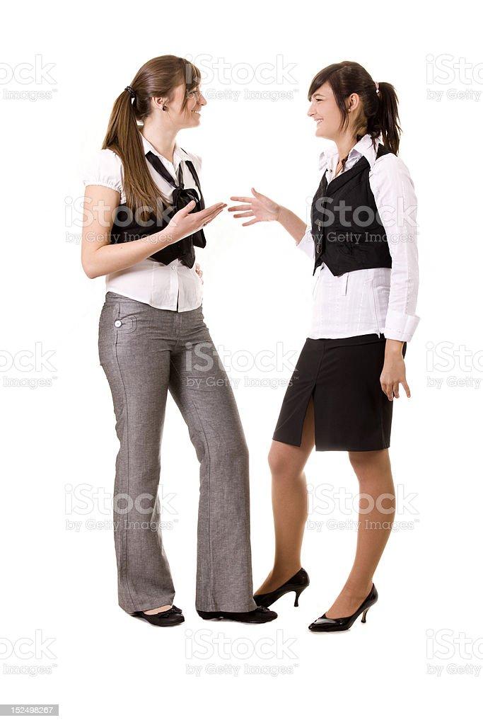 Geschäftsfrauen sprechen – Foto