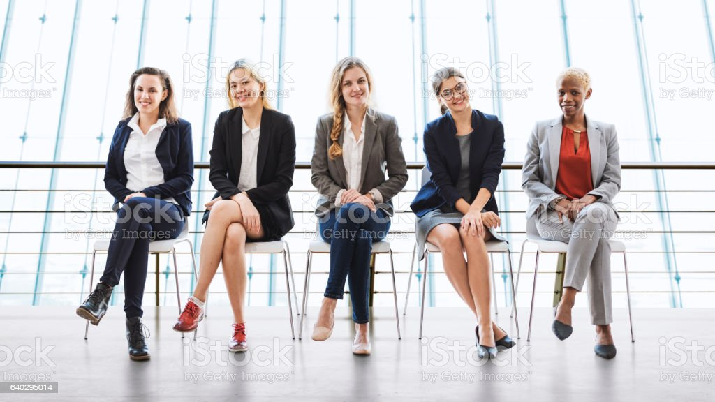 Businesswomen Teamwork Together Professional Occupation Concept stock photo