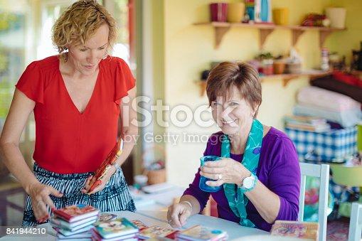 Businesswomen working at home
