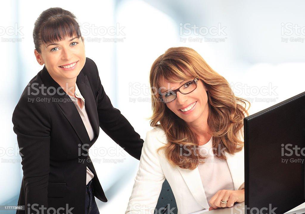 Businesswomen working on computer. royalty-free stock photo