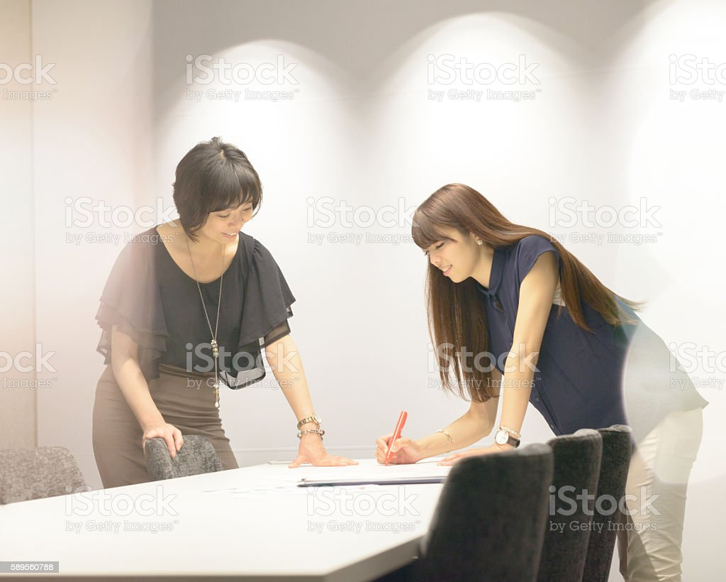 Businesswomen Working Together stock photo